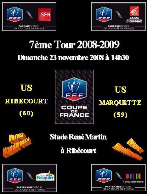 Affiche 7 me tour coupe de france - Resultat coupe de france 7eme tour ...